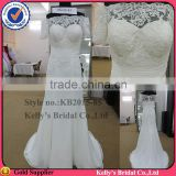 new arrival short sleeve lace bodice organza wedding dress New Designer ite Pearls Wedding Dress China Bridal dresses