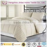 Ivory with 3cm Stripe Microfiber quilt,Duck Down Filling Duvet Goose Feather Filling,Quilt Bedspread Set
