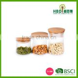 Storage Canister With Wood Lid,Air Tight Glass Storage Canister,Glass Canisters