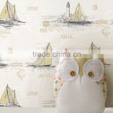 kids wallpaper wallcovering/raw material wallpaper/roll wallpaper for printings