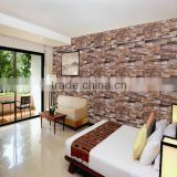 brick design vinyl 3D Wallpaper for home decoration /Embossed decorative 3d wallpaper