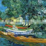 Original fishing oil painting on canvas