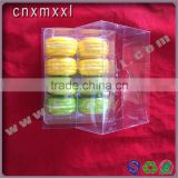 8 pcs clear plastic macaron box printed with PET inner food trays food industrial use and grade plastic type 5 macaron
