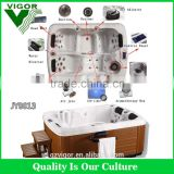 Factory JY8013 Factory china freestanding whirlpool bath tub,swim spa,2 person Massage Bathtub portable bathtub