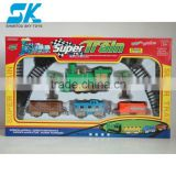 fashion car electric toy train Electric train B/O railway train Christmas Gift electric locomotive strip light music smoke toy