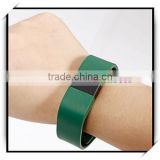 Sleep Heart Rate Step Counter Smart Bluetooth Intelligent Bracelet For IOS & Android System Army Green