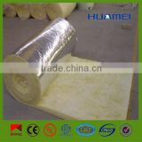 Fiberglass wool blanket insulation with aluminum foil cover