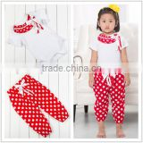 Top quality 2016 New Fashion Baby Girls Clothes , girls boutique outfits , baby clothing sets