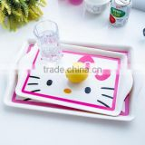 Kitty Artwork Melamine Serving Tray,Different Surface Melamine Tray,Melamine Plastic Tray