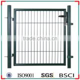 Galvanized and PVC coated metal wire mesh garden gate/garden border chain link fence gate ( ISO9001-2008 )