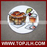 Promotional gift sublimation white blank round ceramic coasters