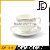 European stylish printed afternoon tea time tea sets / bulk cup and saucer / Antique tea cup and saucer