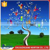 Stainless steel tree with colorful leaves sculpture NTS-024LI