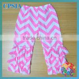 HOT!baby chevron pants with 3 layers ruffle baby leggings girls chevron pants
