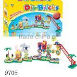 Toys for kids building blocks toys Plastic blocks train