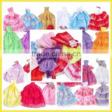 Wholesale 11 inch cheap doll clothing Barbie doll dress baby toy