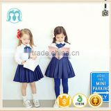 wholesale school supplies long seelve school student clothing dress baby girl t shirt + dress suit back to school clothing