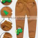 China Supplier Boy Trousers Wholesale100%Cotton Kids Wear Casual Children Embroidery Trouser Pants