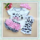 Baby clothes newborn blank cow print outfit and podotheca children 3 pcs wholsesale kids clothes