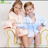 100% cotton waffle bathrobe shawl collar style cheap bathrobe for kids children waffle towel robes baby cloth robesGVKBR1018