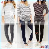 Custom Design 3/4 Sleeve Latest Blouse Designs Pregnancy Clothes Wholesale Maternity Clothes