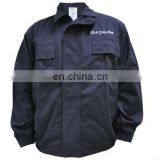 canvas anti flame worker jackets/navy blue work jackets for men/quilted work wear jacket