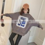 2017 new arrival fashionable stock women hoodie grey hoody fat lady sweatshirt