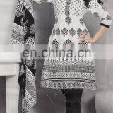 INDIAN PAKISTANI DESIGNER WHITE BLACK WHOLESALE PRINTED SUMMER SEASON COTTON KURTI/SALWAR KAMEEZ DRESS COLLECTION 2015