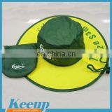 Made in China advertising custom logo crushable summer mens folding travel hat
