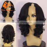Virgin Indian Human Hair Upart Wig Side Part Body Wave Natural Black Upart Wig For Black Women