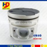 Diesel Engine Tinned Piston 4M40 Engine OEM ME200689 ME201780 With Anodized