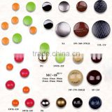 18mm colorful metal painting button for garment