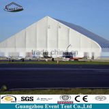 Tent manufacturer aircraft hangar with high arch roof and high eave