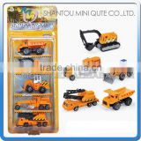 Mini Qute kids 5 in 1 Die Cast pull back alloy engineering truck vehicle diecast model car educational toy NO.MQ 513A