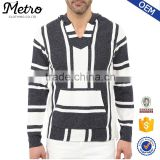New Style Custom Mens Contrast Color Knitted Hoodies
