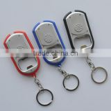 Supply cheap Plastic keychain bottle opener with led light for promotion