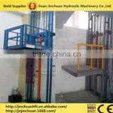 hydraulic cargo lifting equipment/guide rail cargo lift/Track traveling type platform lift