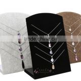 S1315 Alibaba New Design Velvet Wooden Necklace Display