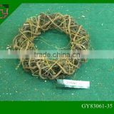 natural wicker rattan decors Christmas wreaths