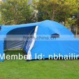Factory hot sale 2-3 person family tent one bedroom one living room with window and living room