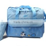 promotional baby diaper bag with small milk bottle bag