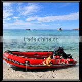CE certificate and best selling korea 1.2mm pvc cheap inflatable boat with outboard motor