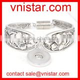 Vnistar interchangeable snap button bangle bracelet wholesale VSB133