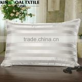 Silk Pillow Hotel New Style 100% Silk with stripe standard size Pillow                                                                         Quality Choice