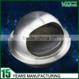 Hvac stainless steel round air vent cap with non return damper