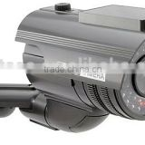 with LED flash light outdoor IR Solar CCTV Dummy Security camera, Imitation camera/Fake camera (Dummy-SOLAR2000S)