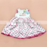 quality new design Care Bears girl dress sleeveless lace printing baby clothes