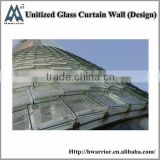 Unitized glass curtain wall with high quality