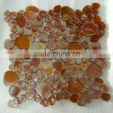 Hot sale glowing glass mosaic tile , stone glass mosaic tile