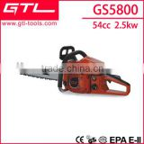 54 cc manual chain saw agricultural tools wood saw chainsaw GS5800                                                                         Quality Choice
